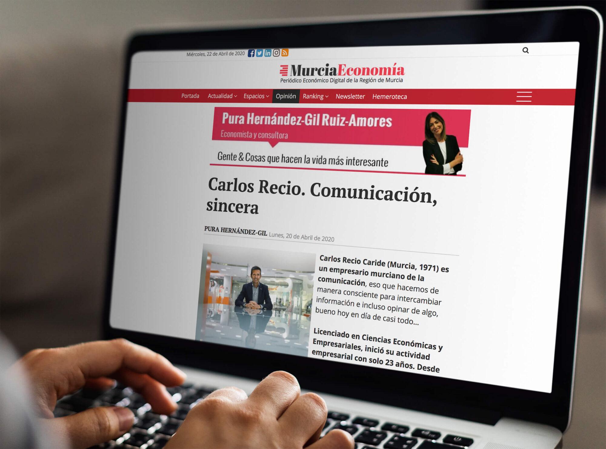 Carlos Recio. Comunicación sincera.